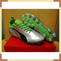 Sepatu Bola - Soccer Puma evoTOUCH Pro Silver Green - FG