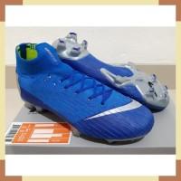 Sepatu Bola - Soccer Nike Mercurial Superfly VI 360 Elite Racer Blue -