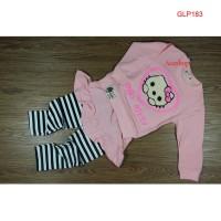 Baju Setelan Anak Cewek   Baju Anak perempuan motif Hello kitty