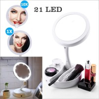 Cermin LED kaca rias make up Lipat 2 sisi My Foldaway Mirror Portable