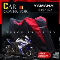 Cover Motor / Sarung Motor YAMAHA R15, R25 Waterproof Merk FUSION R