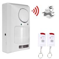 Sistem Keamanan Rumah Alarm Sensor Gerak Infrared dan Remot Kontrol