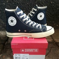 Sepatu Converse 70s High Egret Navy Blue BNIB Premium ddabc1198f