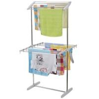 855 Mobile Folding Rack Jemuran Handuk Baju Towel Rack Serbaguna