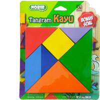 Mainan Kayu Edukasi / Edukatif - Tangram Mini New