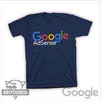 Kaos Google Adsense Warna Biru Navy (Biru Dongker)
