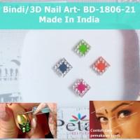 Bindi-BD-1806-21-Stiker Body Art-Hiasan Dahi Kuku-3D Nail Art-India