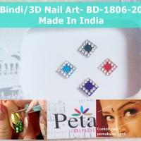 Bindi-BD-1806-20-Stiker Body Art-Hiasan Dahi Kuku-3D Nail Art-India