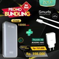 Bundling ZOLA XPro 10000mAh Powerbank PD & QC3.0 +Thunder2Q +Micro USB