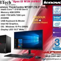"""LENOVO M720T MT ThinkCentre Core i3-8100/4GB/1TB/Win10Pro+19.5"""""""