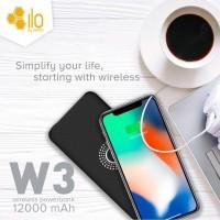 Hippo Power Bank Ilo W3 12000 mAh Wireless Charging Hitam