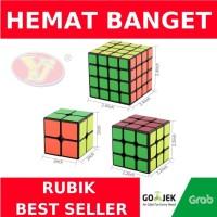 Paket rubik best seller 2x2 3x3 4x4 YJ Guanpo Guanlong Guansu Black