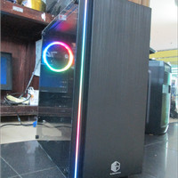 CUBE GAMING IRVBOW ATX SIDE TEMPERED GLASS 1 x RAINBOW FAN RGB STRIP