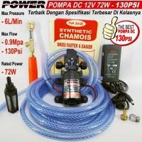 Paket Pompa Power Lengkap High Pressure 130Psi 72W