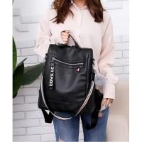 Ransel Tas Import - Tas Jinjing Fashion - Tas Murah hitam 11367