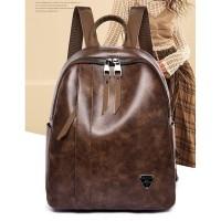 tas wanita murah cewek ransel backpack mini - Coklat 11372