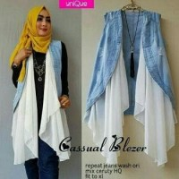 Casual Blazer Jeans/Vest Ripped Jeans Washed Mix Ceruty/Rompi Jeans