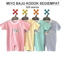 MIYO Baju Kodok Segiempat Warna/Putih 0-3 Bulan