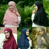 Promo grosir solo / KHIMAR LAYER jilbab instan grosir hijab s Murah