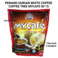 DI JUAL PENANG MYCAFE DURIAN WHITE COFFEE ISI 15 SACHET X 40G KOPI