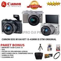 Harga canon eos m100 kit 15 45mm paket bonus kamera canon mirrorless | Pembandingharga.com