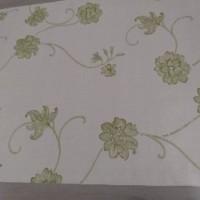 Harga promo wallpaper batik bunga hijau cream 45cm x 10meter | Pembandingharga.com