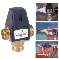 Harga general thermostatic mixing valve solar water heater 3 way male   Pembandingharga.com