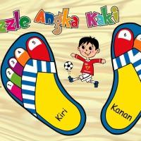 Mainan Anak Kayu Edukasi/Edukatif - Puzzle Sticker Kaki