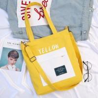 Solid Colorfull Tote Bag / Tas Totebag Selempang