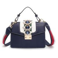 B1884-blue Tas Selempang Wanita Elegan Import