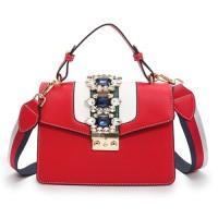 B1884-red Tas Selempang Wanita Elegan Import