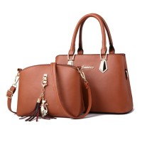 B8657-brown Tas Selempang Wanita Set 2in1