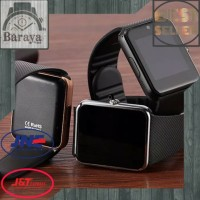 Smartwatch GT08 - Black Silver( Android & Iphone ) TERMURAH