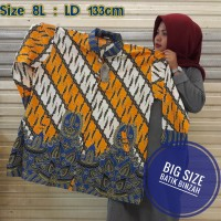 Blouse Big Size kode 0402 / Batik Perempuan JUMBO Lengan Panjang