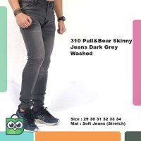 FashionholiC celana jeans pria / celana panjang jeans pria dark grey