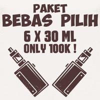 Paket Hemat 6 Botol Liquid 30ml - Liquid Vape - Liquid Murah