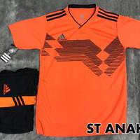 Jersey Bola Baju Kaos Setelan Tim Futsal Anak SD SMP GO Jerman Oren