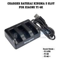 Kingma Charger Baterai 3 Slot untuk Xiaomi Yi 4K Yi LITE Action Camera