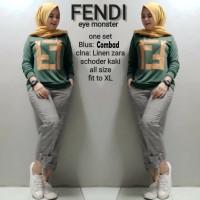 Baju Busana Muslim Wanita Gamis Syari Pesta Maxi Dres Fendi Terbaru