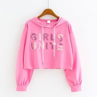 Girls Unite/Crop Top Babyterry/Sweater Hoodie/Atasan Wanita/Outwear