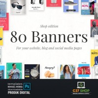 80 BANNERS - Shop Edition | Facebook Instagram Twitter Template