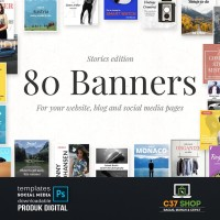 80 BANNERS - Stories Edition | Facebook Instagram Twitter Template