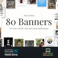 80 BANNERS - Style Edition | Facebook Instagram Twitter Template