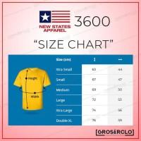 Kaos Polos NEW STATES APPAREL ( NSA ) 3600 SOFTSTYLE MURAH S M L XL