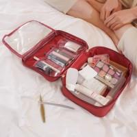 Tas Kosmetik Organizer Cosmetic DENIM Pouch A599
