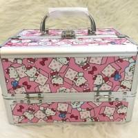 Beauty Case Hello Kitty Tas Makeup Kosmetik Koper Makeup 4 Layer