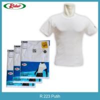 DI JUAL T-SHIRT / KAOS DALAM / OBLONG RIDER PUTIH - STYLE R223B PROMO