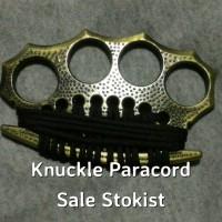 Ready Brass Knuckle Army Paracord tinju besi tonjokan knakel kerling