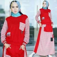 Dijual Baju Gamis Muslim casual sunday set atas dan rok pr Diskon