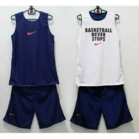 Jersey Basket Nike BNS Bolak Balik Navy Putih d05552dba